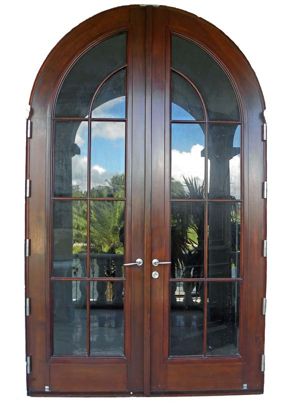 mahogany french door