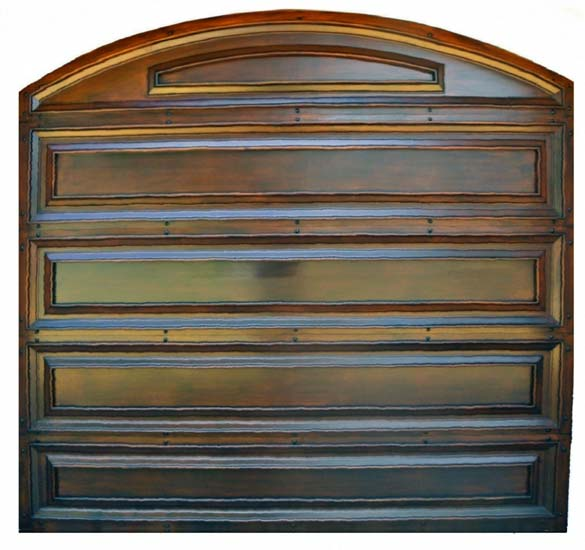 mahogany garage door