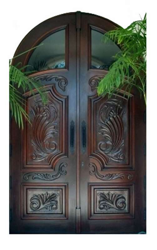 California Mahogany Carved Doors Sabana Windows