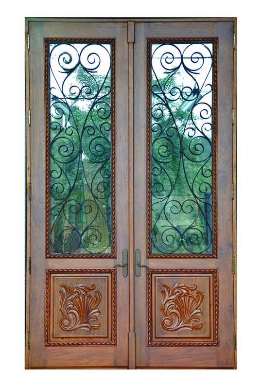 Coral Reef Mahogany Grill Doors  sc 1 st  Sabana Windows & Coral Reef Mahogany Grill Doors - Sabana Windows