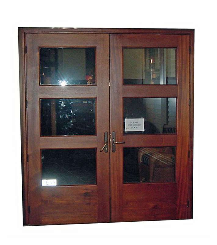 Delray Mahogany Glass Door Sabana Windows
