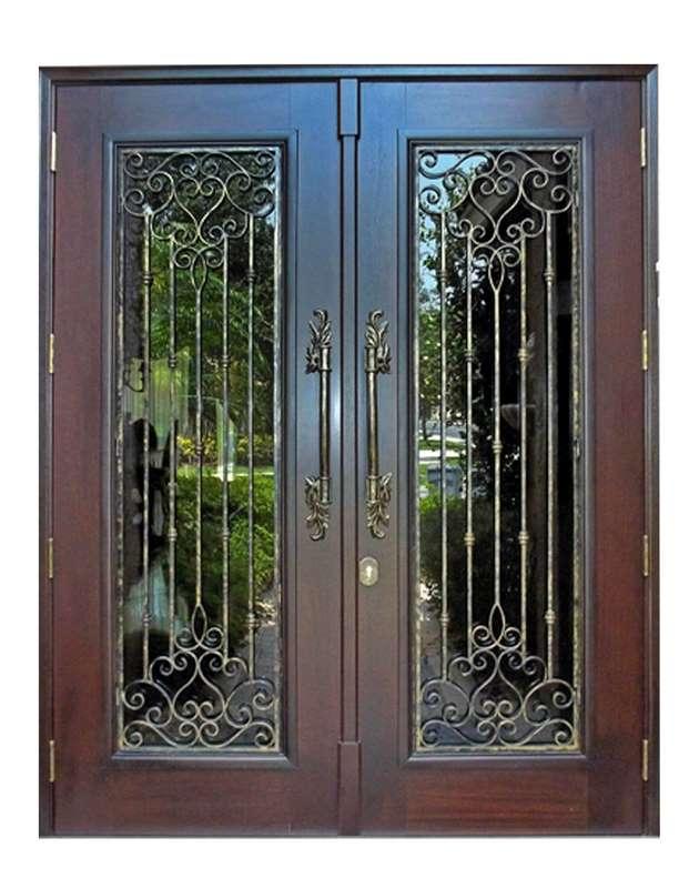 Golden Gate Mahogany Entrance Grilled Door