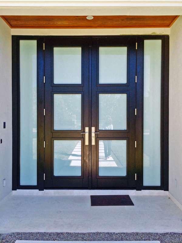 Orlando Mahogany Entrance Glass Doors Sabana Windows