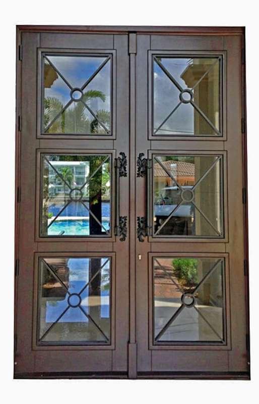 Virginia Gardens Mahogany Grilled Entry Door & Virginia Gardens Mahogany Grilled Entry Door - Sabana Windows