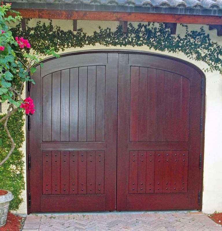 Coral Gables Mahogany Garage Gate Door Sabana Windows