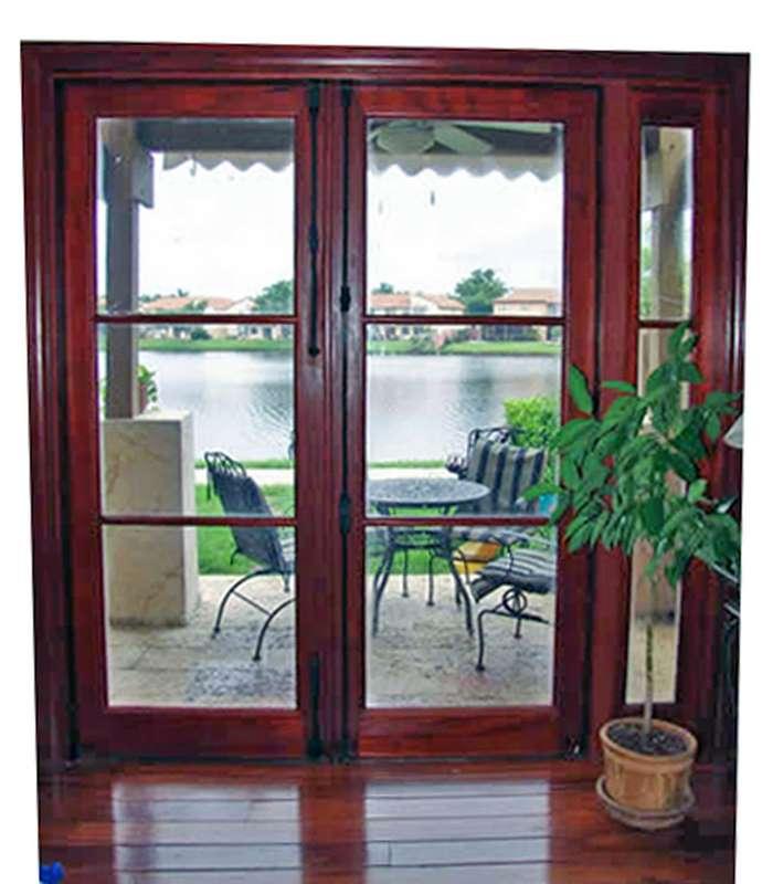 Lake House Mahogany Patio Doors Sabana Windows