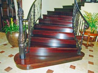 Natural Mahogany Custom Stairs