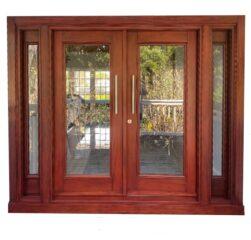 DOLFIN MAHOGANY GLASS DOORS